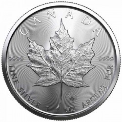 Maple Leaf 1 Unce Silver 2021 - Investiční stříbrná mince